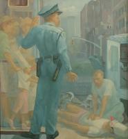 Fallen, 48 x 44, o/c, 2003