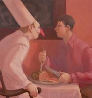 Roast Beef, 34 x 32, o/c, 2011