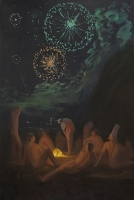 On the Beach At Night: Undress, 60 x 40, o/c, 2014