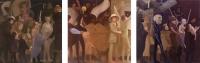 Halloween Parade, 72 x 72 each, o/c, 1989