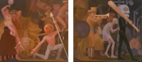 Mardi Gras, 66 x 72 each, o/c, 1990