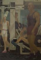 Gym II: Carry, 52 x 36, o/c, 2001