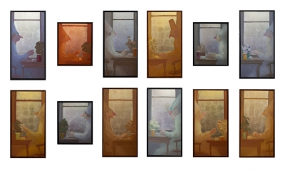 Winterreise I,164X100, (singly 24X30/48), o/l/leaf , 2015-16
