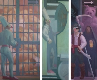 Jailer, 30 x 60; Engine Driver, 20 x 60; Pirate Chief, 20 x 60; o/l, 2013-15