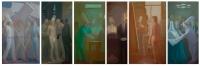 7-Proteste, Gangster, Nurse, Undertaker, Painter, Architect, 192X60, o/l, 2017