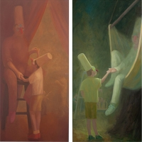 Circusman, 30 x 60; Swings-and-Roundabout, 30 x60; o/l, 2013-15