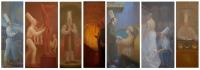 8- Builder, Sculptor, Actor, Usher,Doorman, Dressmaker, Salesman 204X60, o/l, 2017