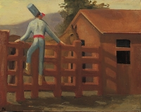 Punchinello At the Ok Corral, 11 x 14, o/c, 1995